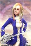 3D Fencer Girl - closeup