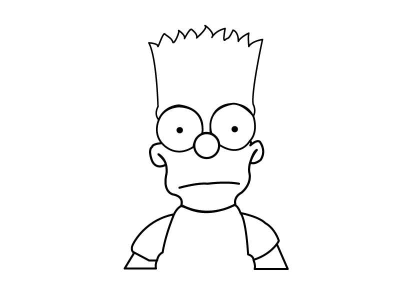 Bart Simpson Drawing images.