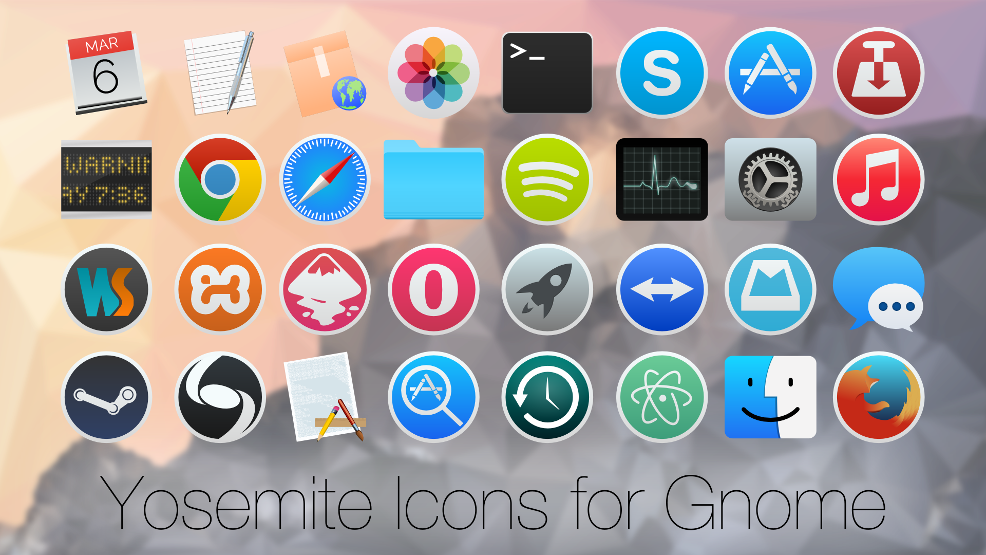 Yosemite Icons for Linux by zacpier