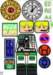 Space Police Decals