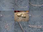Half persian chain maille glasses chain
