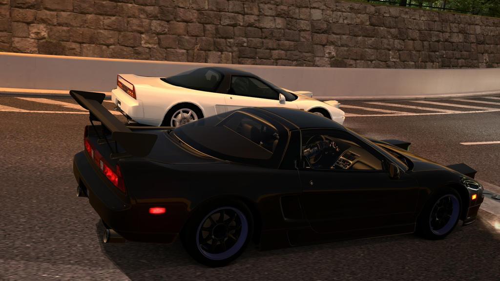 Black Acura NSX Vs White Honda NSX by NightmareRacer85
