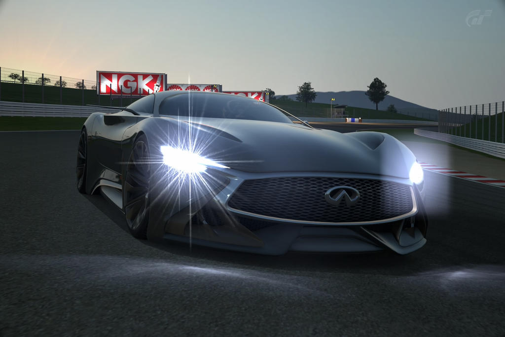 Infiniti Concept Vision GT on Sunset. by NightmareRacer85