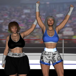 Akio Yamamoto Vs Tamao Silver Past fight 9 by NightmareRacer85