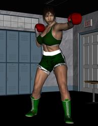Masae Prepares her fight by NightmareRacer85