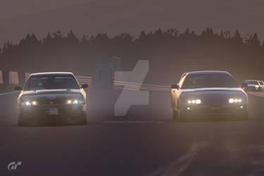 97 Skyline GTR vs 97 Supra by NightmareRacer85