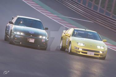 Nissan Skyline GTR vs Nissan 300ZX by NightmareRacer85