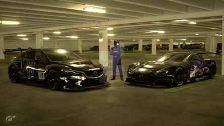 Mazda GT3 racecars by NightmareRacer85