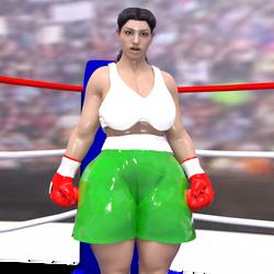 Teressa D VS random Female boxer Test 2 by NightmareRacer85