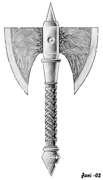 Battle Axe Tattoo Battle axe by janip