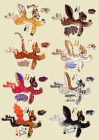 Gecko Friends (Raffle Flatsale: CLOSED) by MrGremble