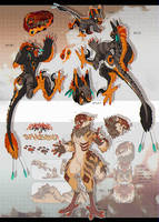 Talons and Saberteeth (CAPLESS AUCTION: CLOSED) by MrGremble