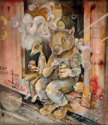 Meerkat and Wombat