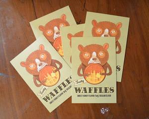 Waffle Bear Postcards