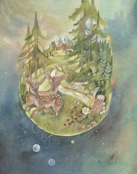 The World, Black forest Tarot