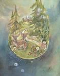 The World, Black forest Tarot