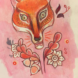Pink Fox Pattern Design