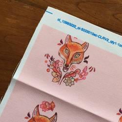 Pink Fox Pattern