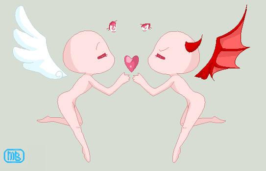 Devil and Angel base