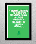 The Fly Movie Quote Poster