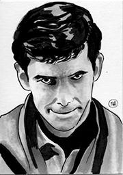 Sketch Card - Psycho Norman Bates