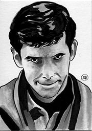 Sketch Card - Psycho Norman Bates by kreepykustomz