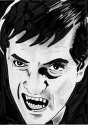 Sketch Card - Barnabas Collins Dark Shadows
