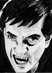 Sketch Card - Barnabas Collins Dark Shadows by kreepykustomz