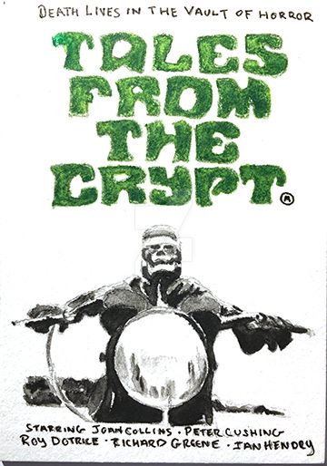 Tales From The Crypt 1972 Movie Poster Sketch Card by kreepykustomz