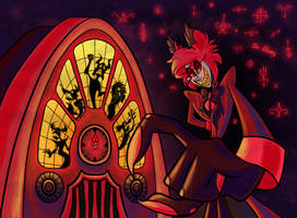Alastor and his Radio by Animation-Asylum