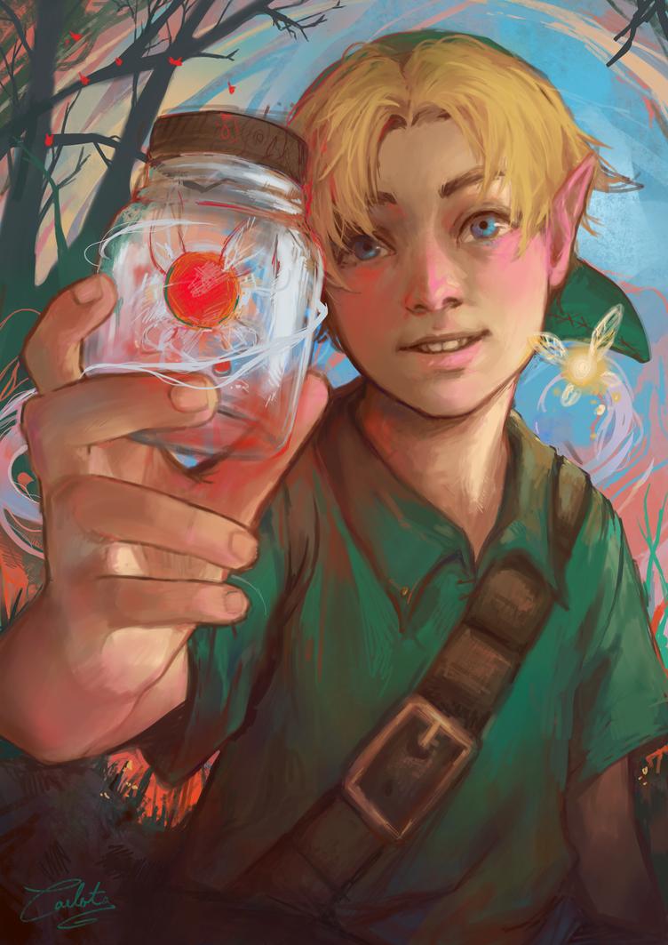 Fairy in a bottle by Katsuvy