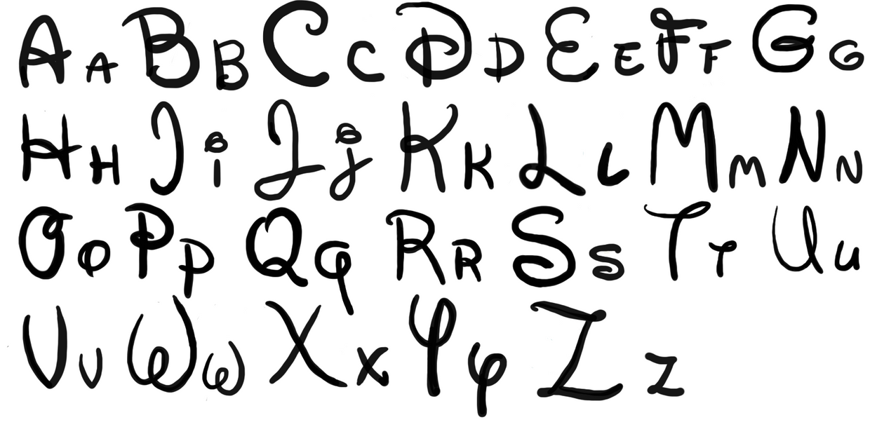 disney writing alphabet letters