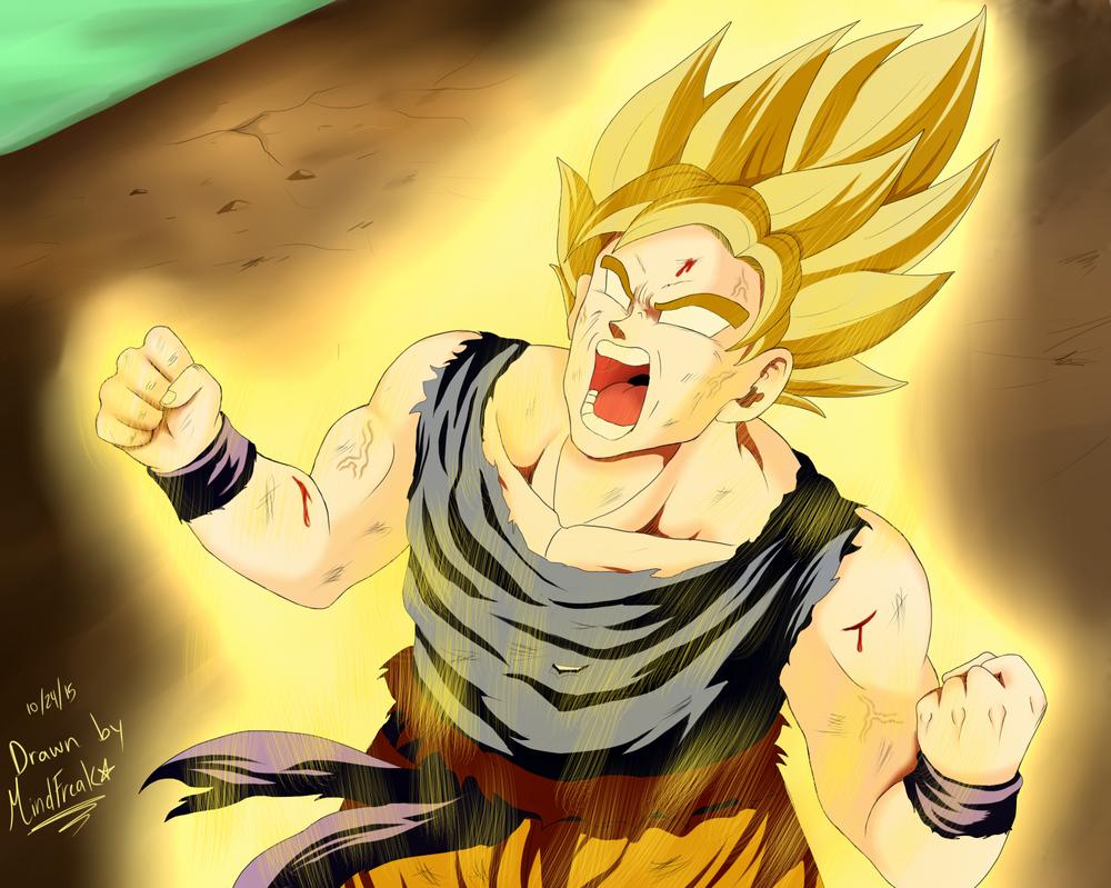 Super Saiyan Goku by xxxMind-Freakxxx