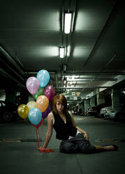 Zuzia and balloons by swrsc