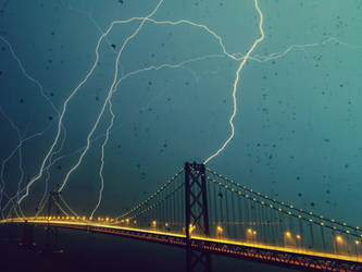 Lightning on the Bridge by SottoPK