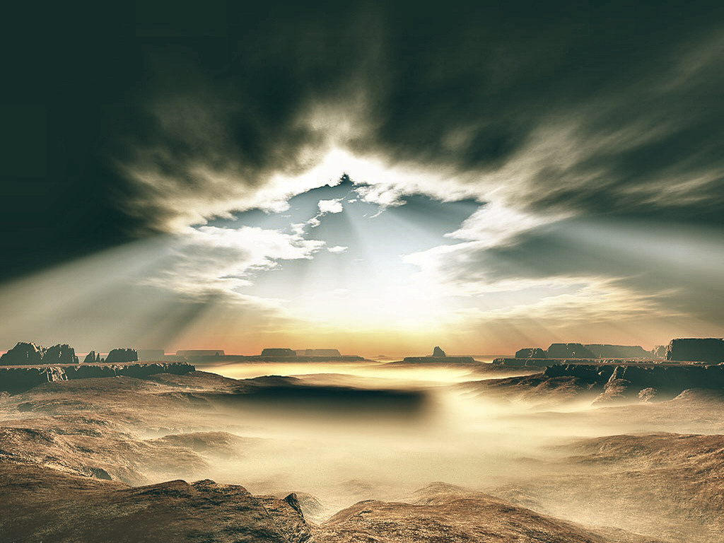Canyon Nature Cloud Lights - Wallpaper by SottoPK