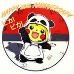 Pikachu panda - pokemon 20th anniversary
