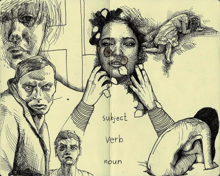 Subject Verb Noun by MatthewsArt