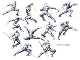Studies for poses by mavinga