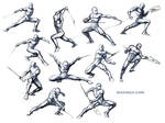 Studies for poses
