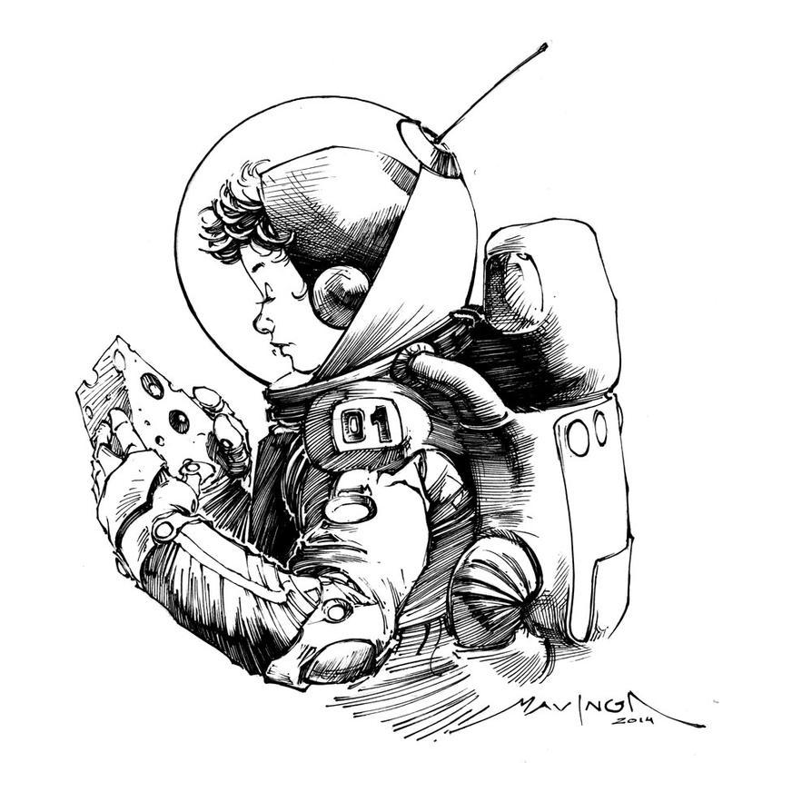 Space Cheese Ink by mavinga