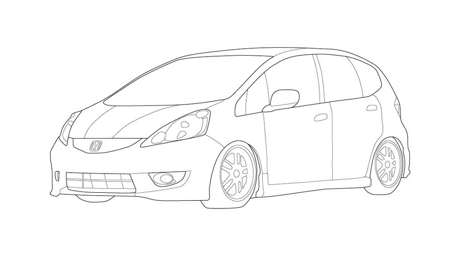 honda fit sport coloring pages coloring pages