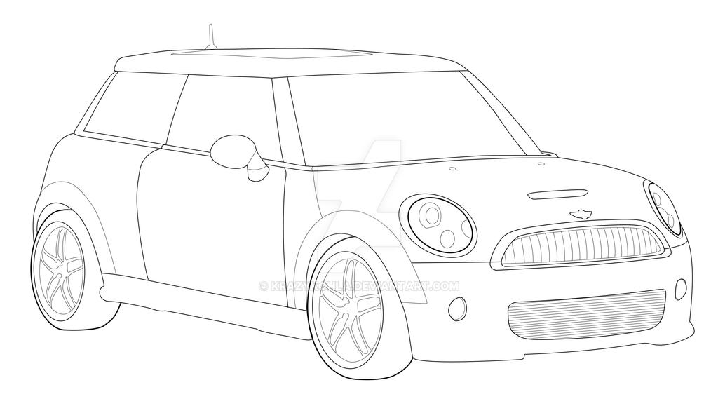 mini cooper panel coloring pages - photo#10