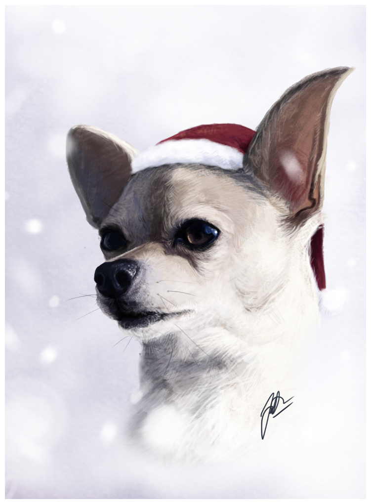 Christmas chihuahua by wakedeadman