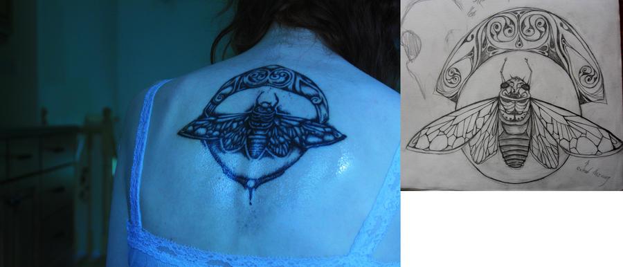 cicada tattoo by x undeadkitty x on deviantart. Black Bedroom Furniture Sets. Home Design Ideas