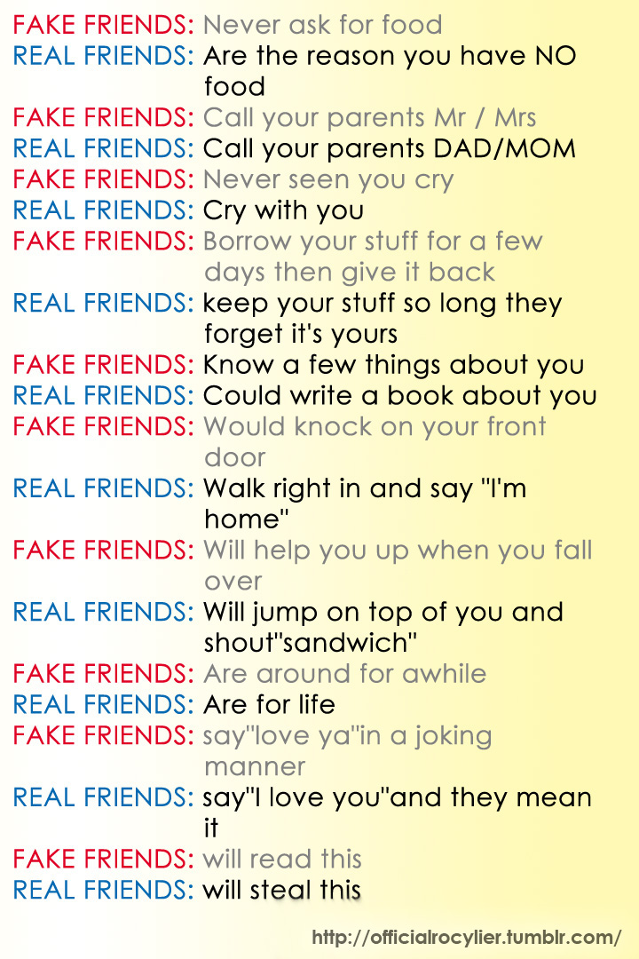 essay about fake friendship I don't even need to fake an orgasm in la i sort of tiredly pretend i don't want it  when i sort of do it's like i don't even know anymore, linda.