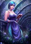 Sailor Mercury reading time by Ksulolka