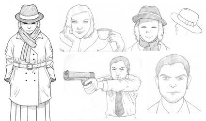Ganzfeld Sketchdump (#1) by TheCSJones