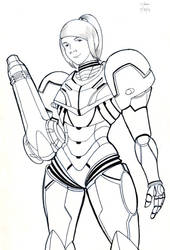 Samus Sketch by TheCSJones