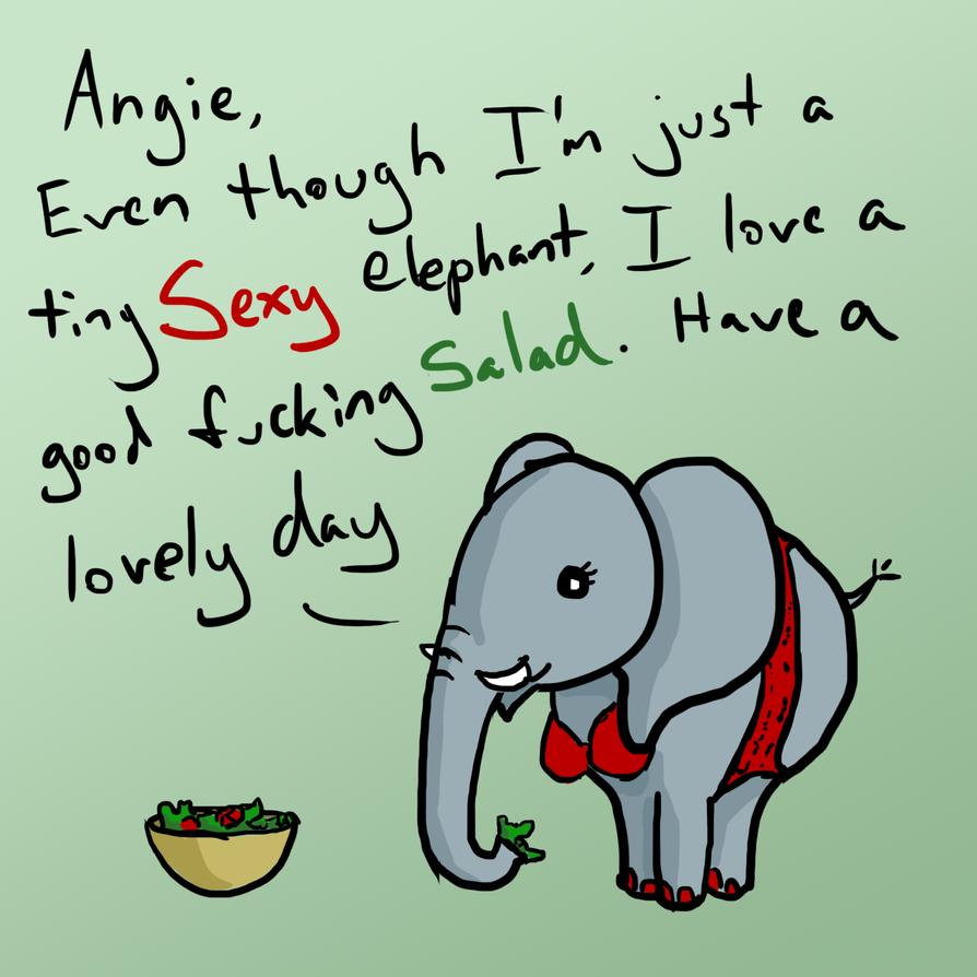 Tiny elephant for a friend 02 by borkweb